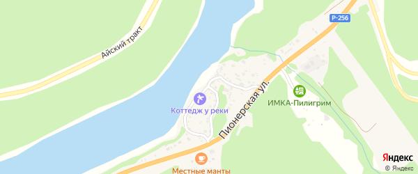 Набережная улица на карте села Манжерка с номерами домов