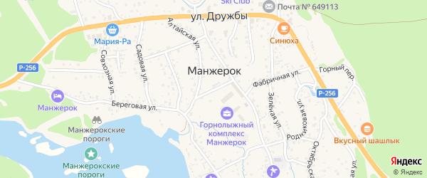 Фабричный переулок на карте села Манжерка с номерами домов