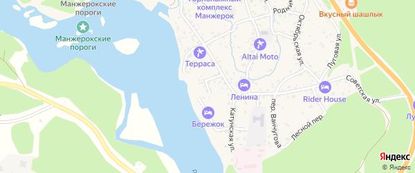 Песчаный переулок на карте села Манжерка с номерами домов