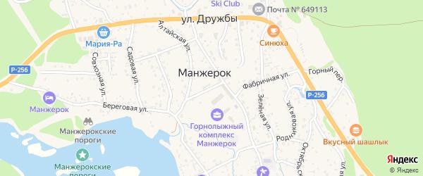 Лесной переулок на карте села Манжерка с номерами домов