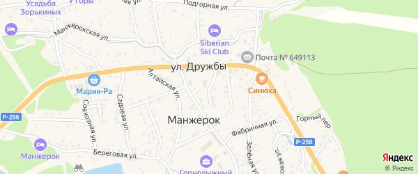 Новый переулок на карте села Манжерка с номерами домов