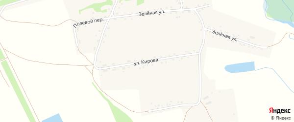 Улица Кирова на карте села Бочкарей с номерами домов