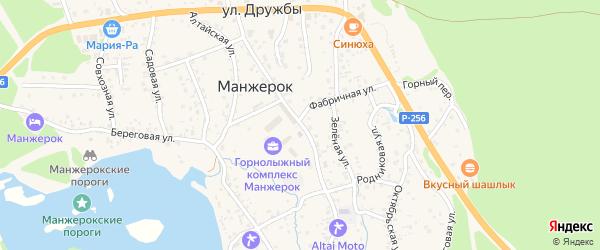 Ленинская улица на карте села Манжерка с номерами домов