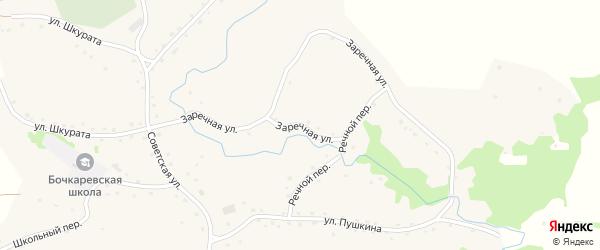 Заречная улица на карте села Бочкарей с номерами домов