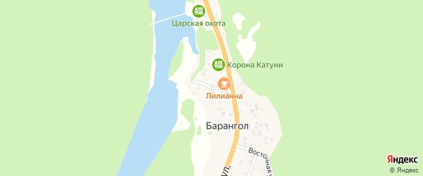 Песочный переулок на карте поселка Барангола с номерами домов