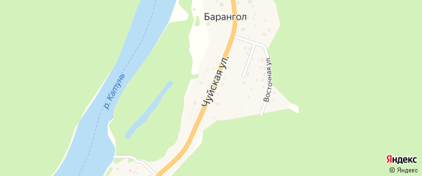 Чуйская улица на карте поселка Барангола с номерами домов
