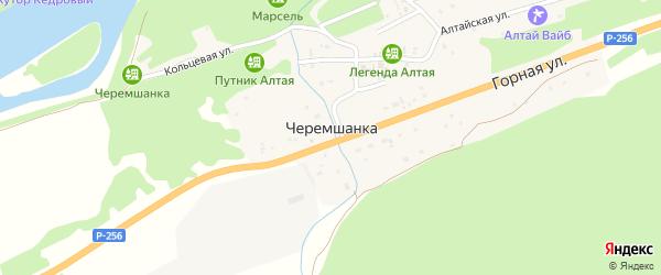 Дворовый переулок на карте поселка Черемшанки с номерами домов