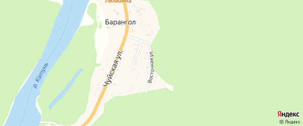 Восточная улица на карте поселка Барангола с номерами домов