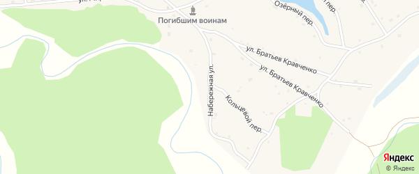 Набережная улица на карте села Шебалино с номерами домов