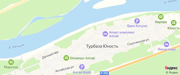 Чуйская улица на карте поселка т/б Юность с номерами домов
