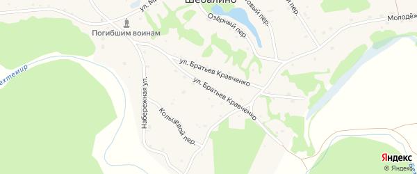 Улица Братьев Кравченко на карте села Шебалино с номерами домов