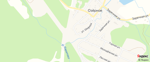 Прямой переулок на карте Озерного села с номерами домов