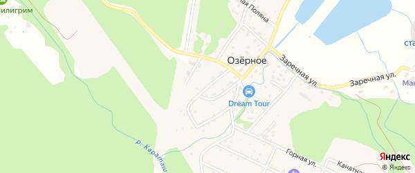 Водопроводная улица на карте Озерного села с номерами домов