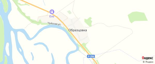 Карта поселка Образцовки в Алтайском крае с улицами и номерами домов