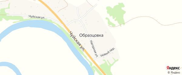 Новый переулок на карте поселка Образцовки с номерами домов