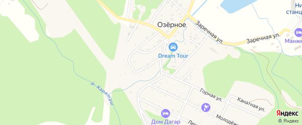Улица С.Л.Шефера на карте Озерного села с номерами домов