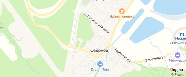 Новосибирский переулок на карте Озерного села с номерами домов
