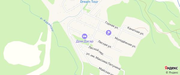 Лесная улица на карте Озерного села с номерами домов