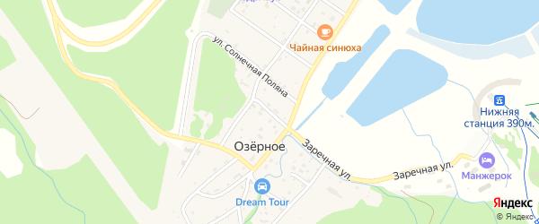 Озерный переулок на карте Озерного села с номерами домов