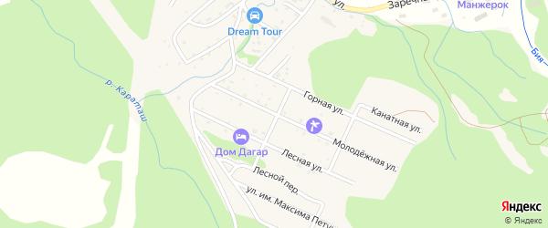 Молодежная улица на карте Озерного села с номерами домов