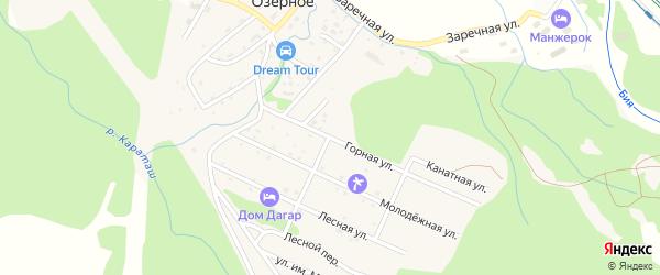 Горная улица на карте Озерного села с номерами домов