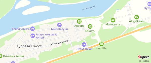 Улица Шишкова на карте поселка т/б Юность с номерами домов