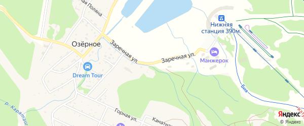 Заречная улица на карте Озерного села с номерами домов