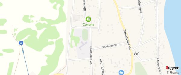 Школьная улица на карте села Аи с номерами домов