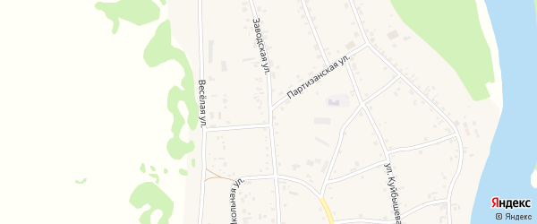 Заводская улица на карте села Аи с номерами домов