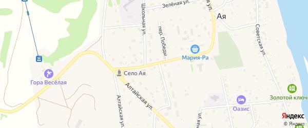 Улица Победы на карте села Аи с номерами домов