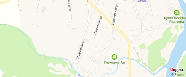 Подгорная улица на карте села Аи с номерами домов