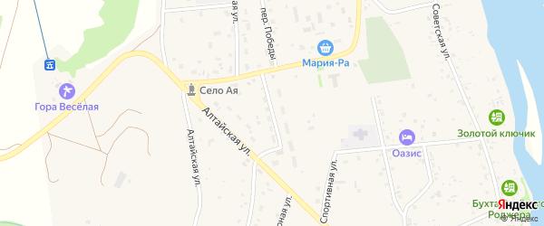 Улица 70 лет Октября на карте села Аи с номерами домов