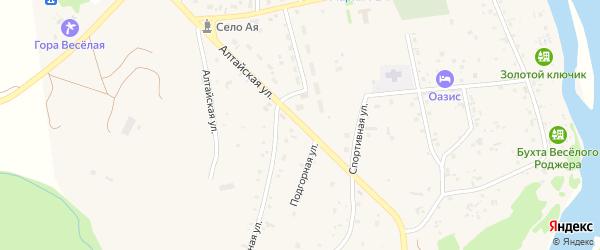 Алтайская улица на карте села Аи с номерами домов