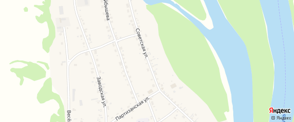Советская улица на карте села Аи с номерами домов