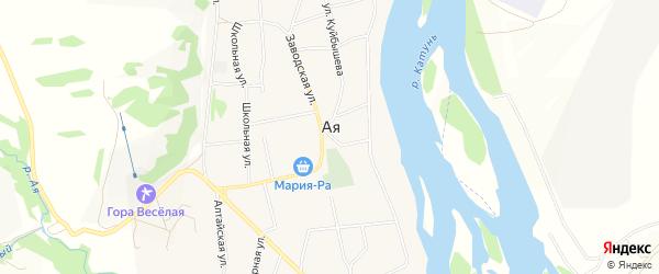 Карта села Аи в Алтайском крае с улицами и номерами домов