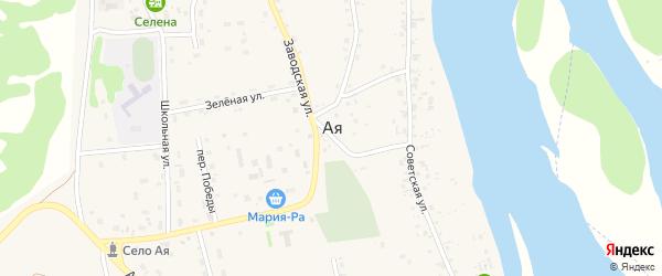 Пограничная улица на карте села Аи с номерами домов