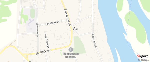 Новая улица на карте села Аи с номерами домов