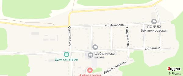 Школьный переулок на карте села Шебалино с номерами домов