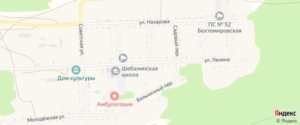 Больничный переулок на карте села Шебалино с номерами домов