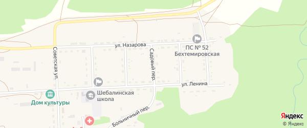 Садовый переулок на карте села Шебалино с номерами домов