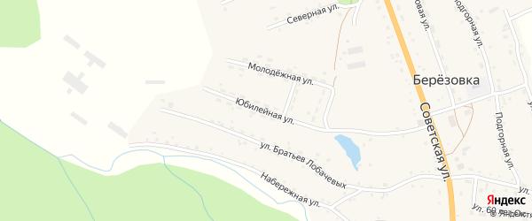 Юбилейная улица на карте села Березовки с номерами домов