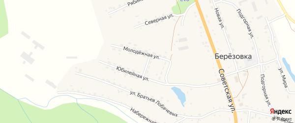 Мирный переулок на карте села Березовки с номерами домов