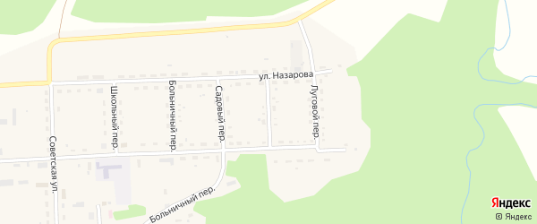 Красноармейский переулок на карте села Шебалино с номерами домов
