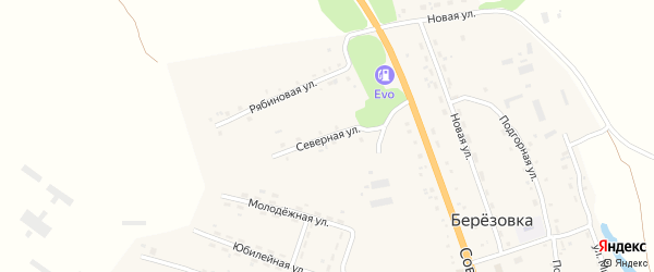 Северная улица на карте села Березовки с номерами домов
