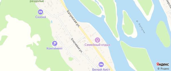 Катунская улица на карте села Аи с номерами домов