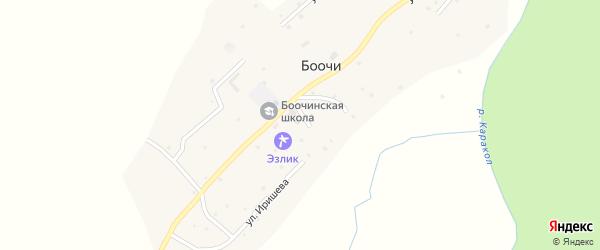 Улица Э.Иришева на карте села Боочи с номерами домов
