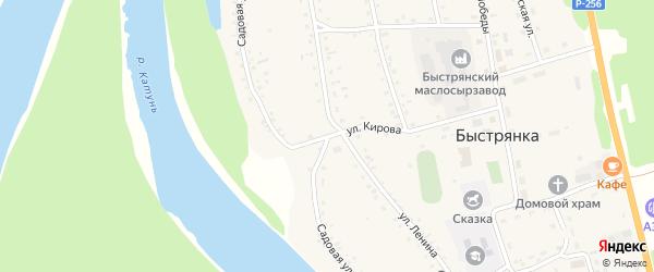 Садовая улица на карте села Быстрянки с номерами домов