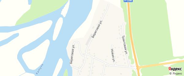 Береговая улица на карте села Быстрянки с номерами домов