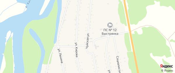 Чуйская улица на карте села Быстрянки с номерами домов