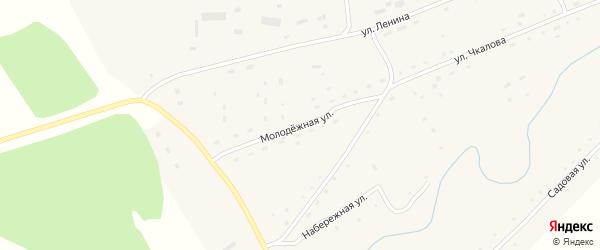 Молодежная улица на карте села Шалапа с номерами домов